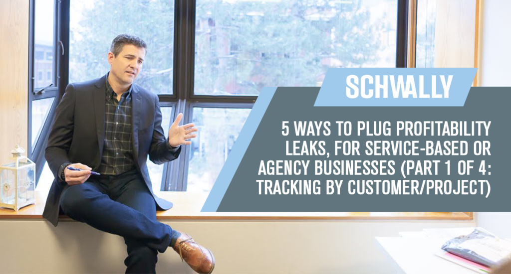 5 Ways to Plug Profitability Leaks, for Service-based or Agency Businesses  (Part 1 of 4: Tracking by Customer/Project)